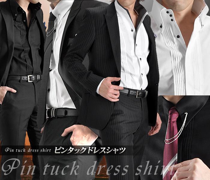 ピンタック・ドレスシャツ