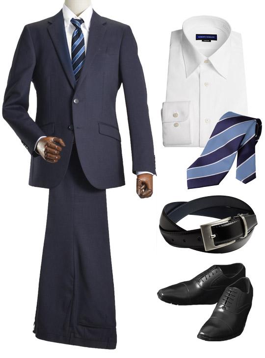 入社式のスーツスタイル